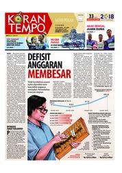 Cover Koran TEMPO 14 Juli 2018