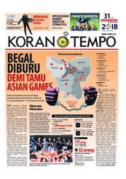 Cover Koran TEMPO 16 Juli 2018
