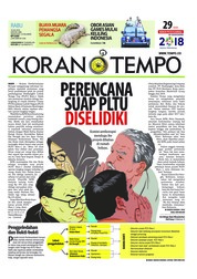 Cover Koran TEMPO 18 Juli 2018