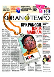 Cover Koran TEMPO 19 Juli 2018