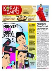Cover Koran TEMPO 21 Juli 2018
