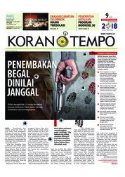 Cover Koran TEMPO 08 Agustus 2018
