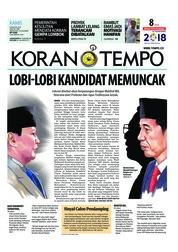 Cover Koran TEMPO 09 Agustus 2018