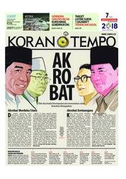 Cover Koran TEMPO 10 Agustus 2018