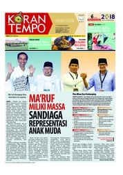 Cover Koran TEMPO 11 Agustus 2018