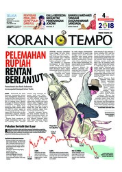 Cover Koran TEMPO 14 Agustus 2018