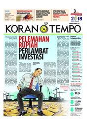 Cover Koran TEMPO 15 Agustus 2018