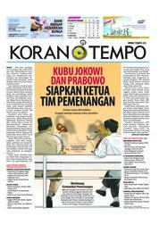 Cover Koran TEMPO 20 Agustus 2018