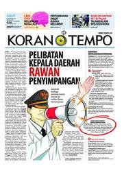 Cover Koran TEMPO 14 September 2018