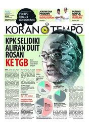 Cover Koran TEMPO 19 September 2018