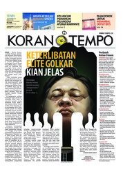 Cover Koran TEMPO 24 September 2018