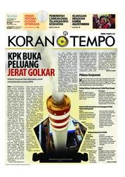 Cover Koran TEMPO 25 September 2018