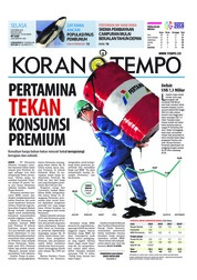 Cover Koran TEMPO 09 Oktober 2018