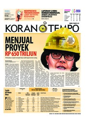 Cover Koran TEMPO 10 Oktober 2018