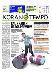 Cover Koran TEMPO 11 Oktober 2018