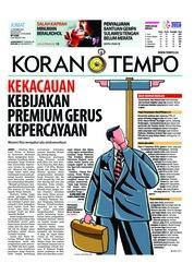 Cover Koran TEMPO 12 Oktober 2018