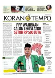 Cover Koran TEMPO 15 Oktober 2018