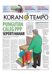 Cover Koran TEMPO 16 Oktober 2018