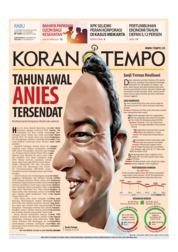 Cover Koran TEMPO 17 Oktober 2018