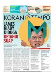 Cover Koran TEMPO 19 Oktober 2018