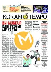 Cover Koran TEMPO 22 Oktober 2018
