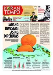 Cover Koran TEMPO 17 November 2018