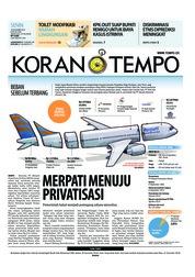 Cover Koran TEMPO 19 November 2018