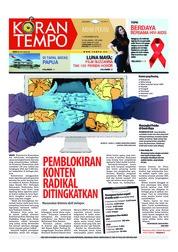 Cover Koran TEMPO 01 Desember 2018