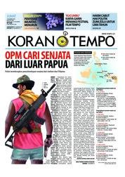 Cover Koran TEMPO 07 Desember 2018