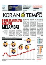 Cover Koran TEMPO 10 Desember 2018