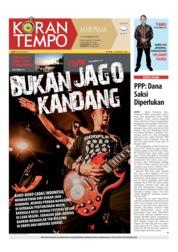 Cover Koran TEMPO 15 Desember 2018