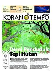Cover Koran TEMPO 17 Desember 2018