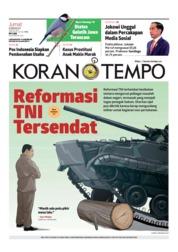 Cover Koran TEMPO 08 Februari 2019