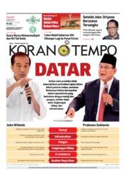 Cover Koran TEMPO 18 Februari 2019