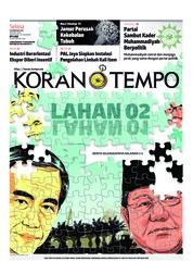 Cover Koran TEMPO 19 Februari 2019