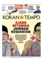 Cover Koran TEMPO 15 Maret 2019