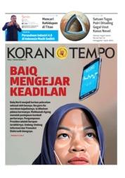 Cover Koran TEMPO 08 Juli 2019