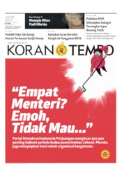 Koran TEMPO Cover 09 August 2019