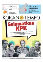 Koran TEMPO Cover 27 August 2019