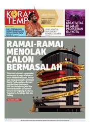 Koran TEMPO Cover 31 August 2019
