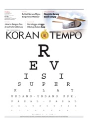 Koran TEMPO Cover 18 September 2019
