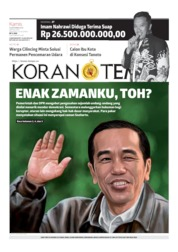 Cover Koran TEMPO 19 September 2019