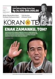 Cover Koran TEMPO 19 September 2019