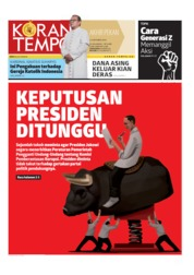 Cover Koran TEMPO 05 Oktober 2019