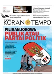 Cover Koran TEMPO 07 Oktober 2019