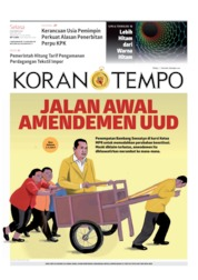 Koran TEMPO Cover 08 October 2019