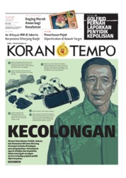 Koran TEMPO Cover 11 October 2019