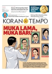 Koran TEMPO Cover 14 October 2019