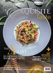 EXQUISITE TASTE Magazine Cover May-July 2016