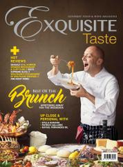EXQUISITE TASTE Magazine Cover August–September 2017